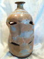 Collectible Hand Thrown Stoneware Pottery Plant Vase