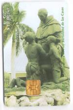 AMERIQUE  TELECARTE / PHONECARD .. CUBA 10$ ART STATUE CHIP/PUCE