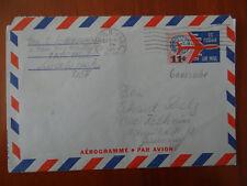 Ganzsache: Luftpostbrief m. eingedruckter Marke aus den USA 1965