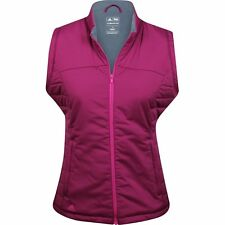 NEW Adidas Golf Womens Large L Pink Insulated & Padded Full-Zip Active Vest