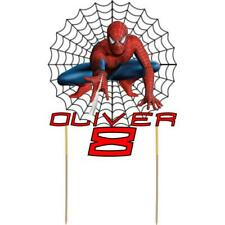 Spiderman Cake Topper Personalised Kids Birthday Party Decoration Cut Card