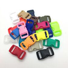 "10pcs 3/8"" Mix color Curved Side Release Plastic Buckle for Paracord Bracelet"