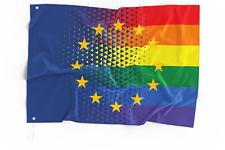 EU & Europa Regenbogen CSD Flagge/Fahne