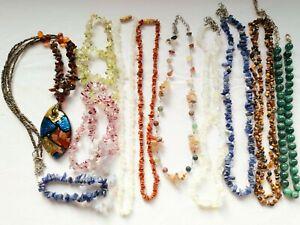 Gemstone Crystal Necklaces Bracelets Joblot
