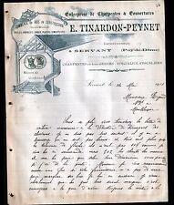 "SERVANT (63) SCIERIE MENUISERIE / BOIS CHARPENTE ""E. TINARDON & PEYNET"" en 1911"