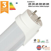 LED T8 2ft 3ft 4ft 5ft 6ft 8ft Bright Source Fluorescent Tube Replacement 240v