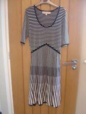Fenn Wright Manson Black White Striped Dress Size Medium (Ref P) Ex Con