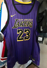 Nike Lebron James City Edición Swingman Los Angeles Lakers Jersey 23 finales de la NBA