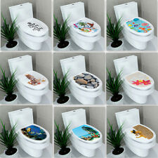 Waterproof Toilet Seat Stickers Assorted Lid Seat Cover Bathroom Decal Decor