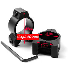 """20mm Hunting Rifle Scope Mount 1"""" 25.4mm Low Profile Airgun Sight Ring for Laser"""