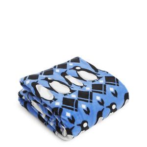 "VERA BRADLEY *PENGUINS INTARSIA BLUE* 80x50"" SUPER SOFT FLEECE THROW BLANKET-$59"