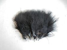 20 x large marabou feathers 10-15cm dyed black for fly tying,crafts,cards etc.