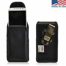 Turtleback Samsung Galaxy S4 Leather Vertical Pouch Holster Metal Clip Case