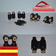 AUDIO adaptador sonido video de doble rca hembra a doble RCA alargador manguito