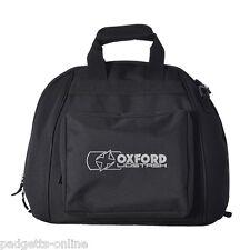 Oxford Lidstash Helmet Bag Motorcycle Motorbike Black Quilted Liner New