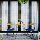 3pcs Bistro Set Folding Chairs Table Garden Backyard Outdoor Furniture + Cushion