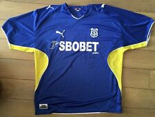SIGNED Cardiff City Football Home Shirt Darcy Blake Adam Matthews Aaron Wildig