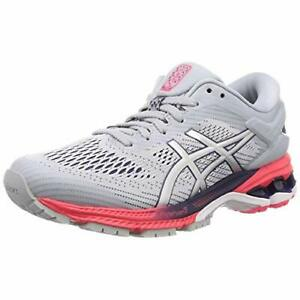ASICS Running Shoes LADY GEL-KAYANO 26 Gray Silver 1012A457 US7.5(24.5cm)