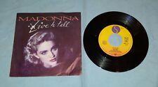 "Madonna live to tell press 1986 France 45 giri vinile usato 7"""