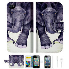 Elephant Wallet Case Cover For Apple iPhone 4 4S -- A007