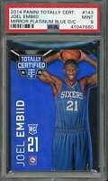 Joel Embiid Rookie 2014-15 Panini Totally Certified Platinum Blue D/c #143 PSA 9