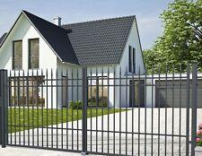 Einfahrtstor 4m 400 cm Doppelflügeltor Hoftor Gartentor Metalltor Anthrazit