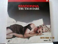Laserdisc  Truth Or Dare  Madonna