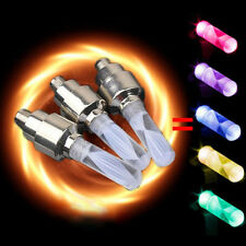 Multi Colour LED Neon Car Bike Wheel Tire Tyre Valve Dust Cap Spoke Lights CN