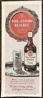 1947 Park & Tilford Reserve Whiskey A Blend Print Ad Finest Tasting in America