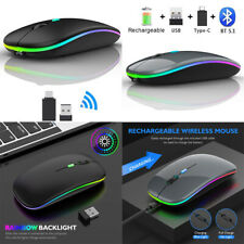 2.4Ghz Wireless Optical Mouse Bluetooth Usb Rechargeable Mice for Pc Laptop ipad