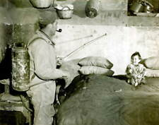 Vintage Soldier Spraying DDT Photo Bizarre Odd Freaky Strange