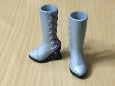 Barbie My Scene Fashion Boutique Kennedy Doll Shoes Gray Wedge Lace Up Boot Rare