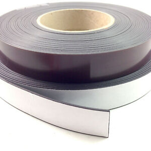 """2 Flexible Magnetic Tape 05"""" x 12 Feet Magnetic Strip Roll Strong Self Adhesive"""