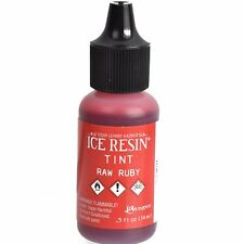 ICE Resin Tint, Raw Ruby Red, Resin Pigment Dye Colorant 1/2 oz. bottle, pnt0033