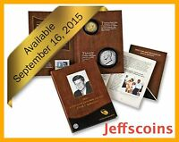 ✯ 2015 P John F Kennedy Presidential Coin & Chronicles Set ✯$1 Reverse Proof AX3