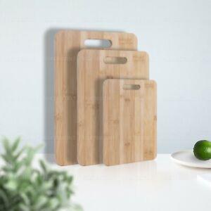 3pcs Set Bamboo Chopping Board Set Kitchen Serving Cutting Wooden BPA Free Plate