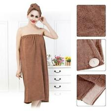 Women Spa Bath Body Wrap Towel Bathrobe With Fast Dry Hair Drying Cap Set