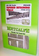 METCALFE CARD KIT P0249 OO TAPERED RETAINING WALLS STONE STYLE METP0249