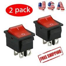 2 Pcs Rocker Switch DPST ON/OFF Toggle 16 Amp 250v 20 Amp 125v 4 Pin Ec-2604 USA