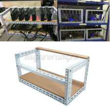 AU 6 GPU Miner Stackable Open Air Mining Rig Frame Case Coin ETH ! w3