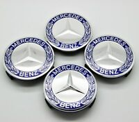 4pcs Wheel Center Cap Emblem Hub Badge Logo 75mm for Mercedes Benz C E Class CLK