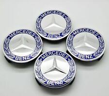 4pcs Wheel Center Cap Emblem Hub Badge Logo 75mm for Mercedes Benz C E Class CLK