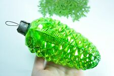 Huge Pine Cone Russian Soviet Glass Christmas Ornament 1950s Thick Glass