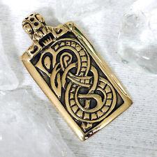 Midgardschlange Glück Amulett Wikinger Anhänger Bronze Weltenkraft Welten-Drache