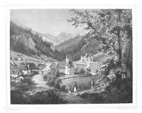 AUSTRIA Murzsteg in Steiermark - 1860 Antique Engraving Print