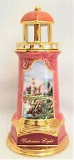"2004 Thomas Kinkade Lighted ""Victorian Light"" Lighthouse ~ Battery Operated"