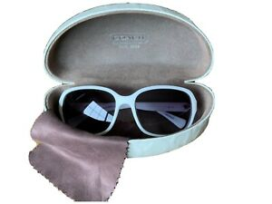 coach sunglasses women used Gretchen Style White With Gold Sides