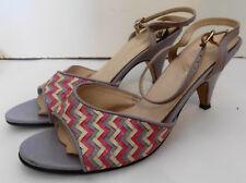 Vintage 69s Open Toe Pink Lavender Ankle Strap Shoes 8 1/2 Shuettes