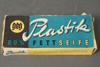 Plastik 80 % Fettseife unbenutzt Originalkarton Waschseife Seife Körperpflege