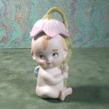 Figure-figurine child flower hat & wings elf/fairy/cupid/angel B14